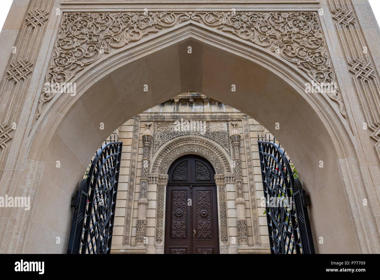 The Juma Mosque(Friday Mosque) in the Icheri Sheher, Ichari Shahar ,Inside the Old City of Baku,Azerbaijan - Stock Image