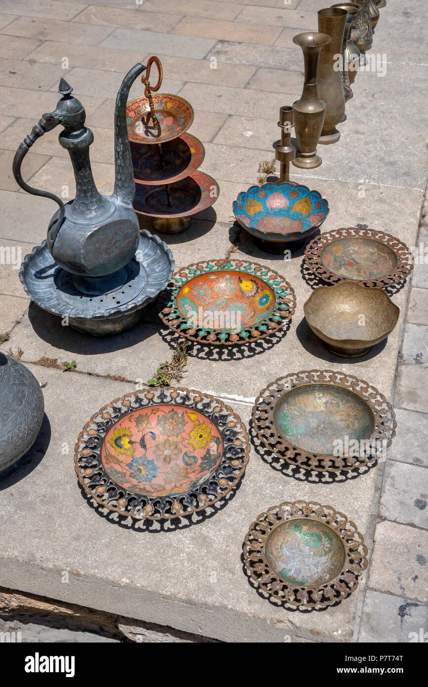 Flea Market in Icheri Sheher(old Town),Baku,Azerbaijan - Stock Image