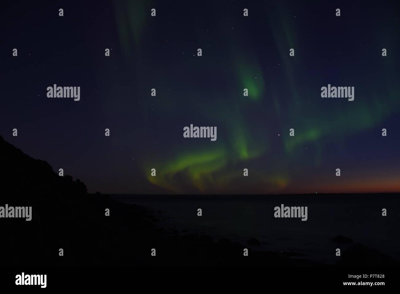 Nordlicht Polarlicht Lofoten Norwegen - Stock Image