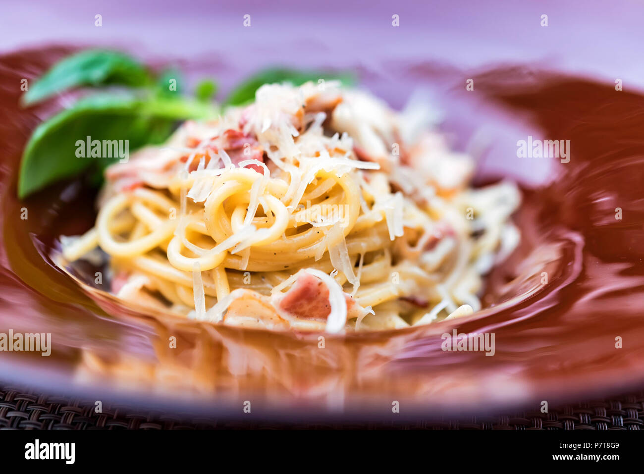 Italian pasta with meat and cheese - Stock Image