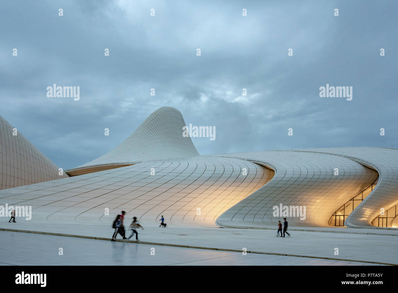 The Heydar Aliyev Center at late afternoon in Baku,Azerbaijan - Stock Image