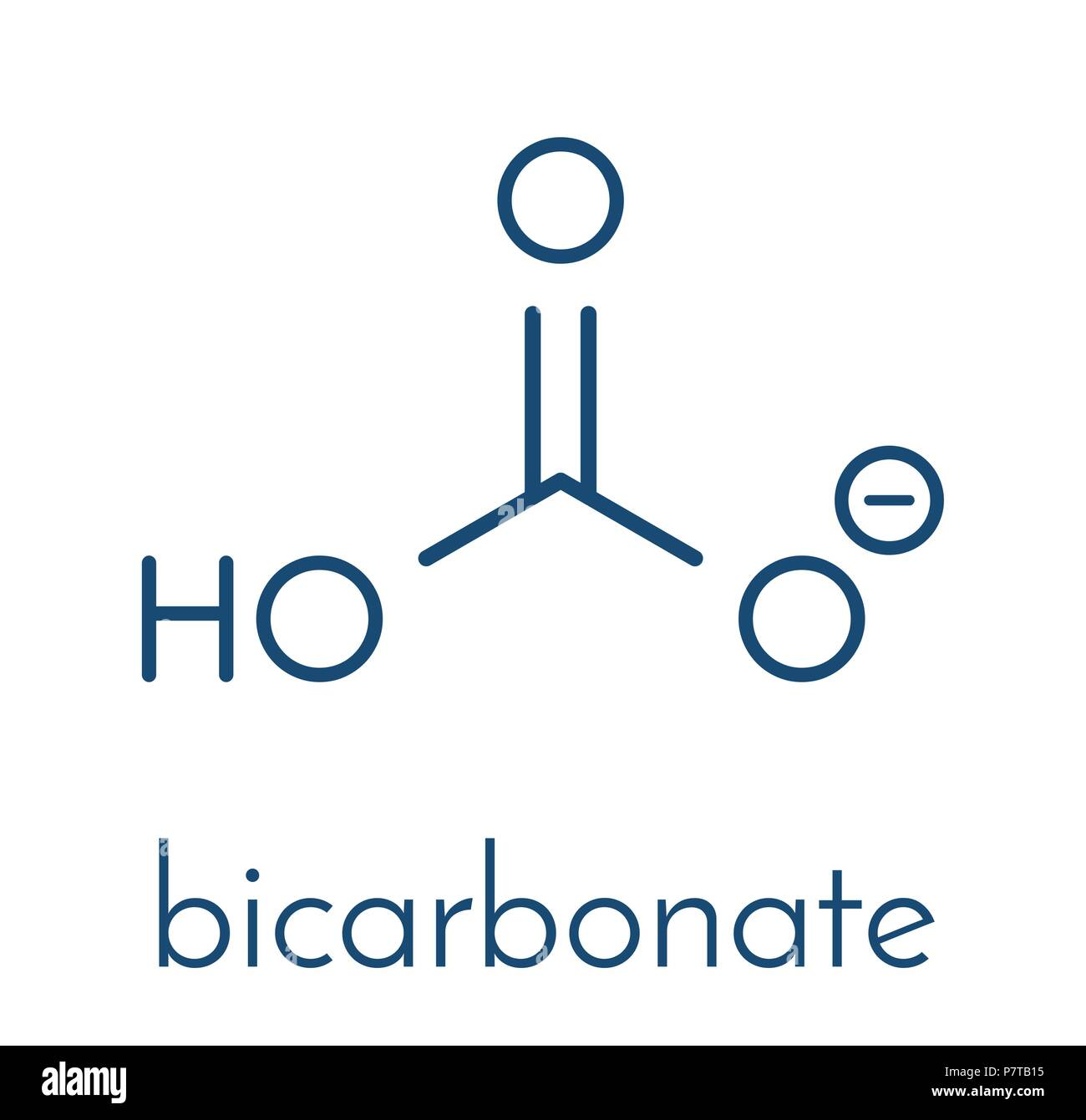 Bicarbonate Anion Chemical Structure Common Salts Include Sodium