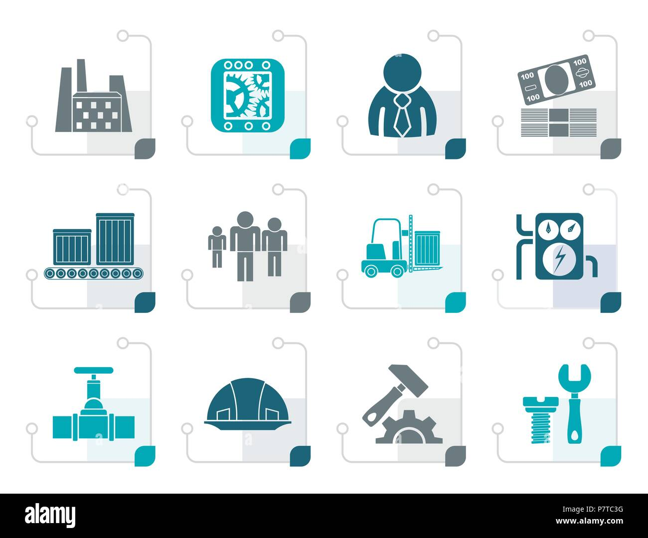 Assembly Icon: Assembly Line Manager Stock Photos & Assembly Line Manager