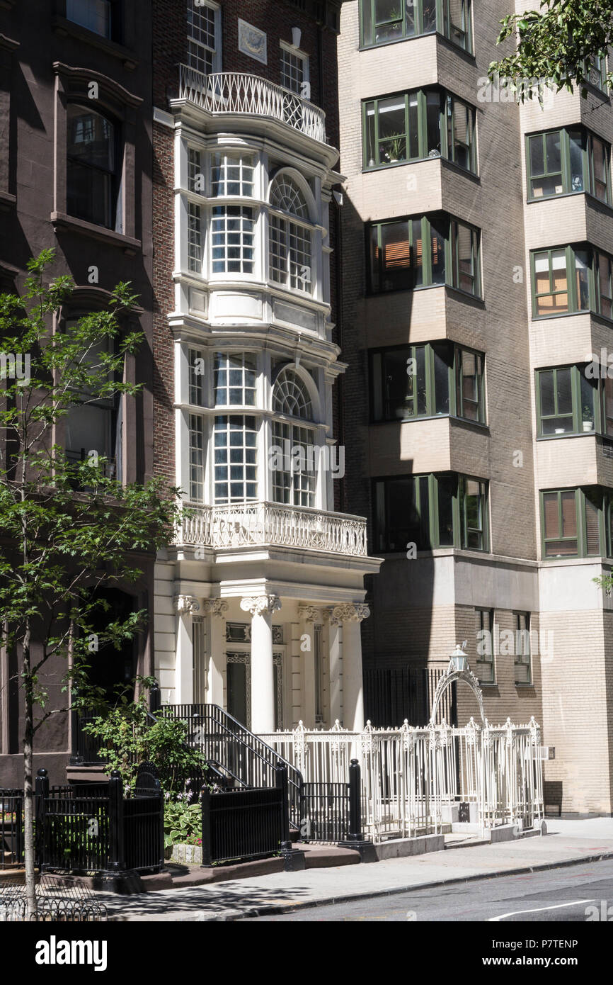 The Collectors Club of New York, E. 35th St, NYC, USA - Stock Image