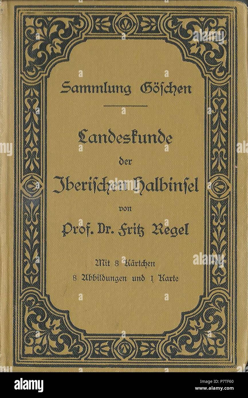 339 Sammlung Göschen Band 235 Regel Iberische Halbinsel - Stock Image