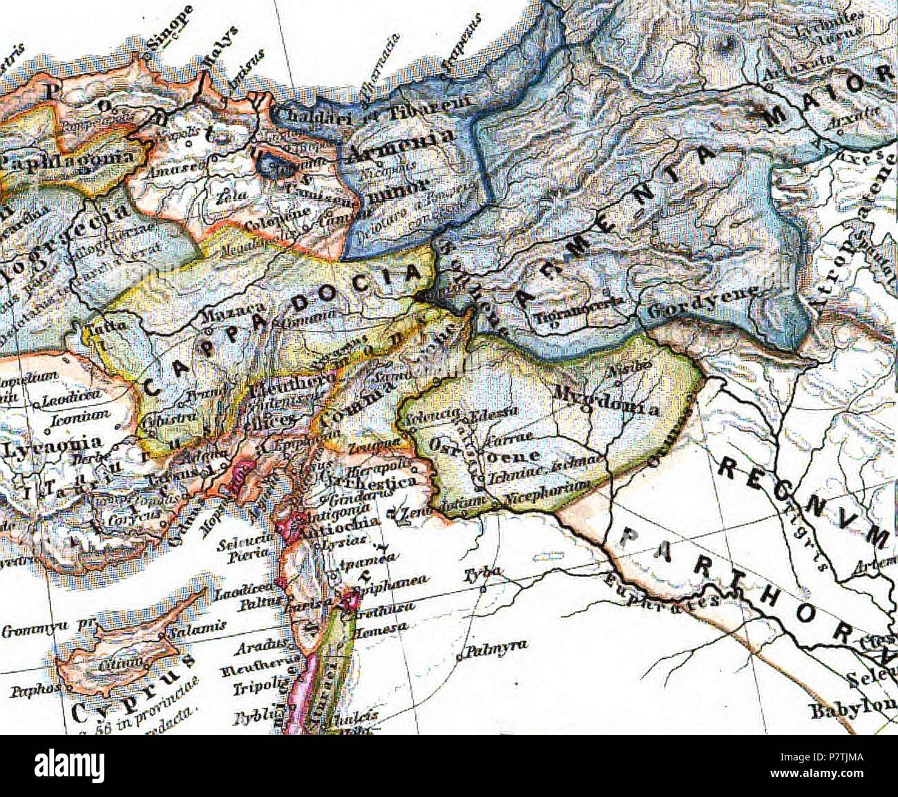 Landkarte Deutsch.Deutsch Landkarte Von Kleinarmenien 1865 26 Armenia Minor