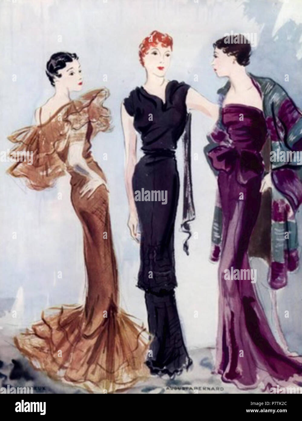 English Augusta Bernard Also Augustabernard 1886 1946 1 Was A French Fashion Designer Who Gained Recognition For Creating Long Neoclassical Evening Dresses During The Early 1930s Guess This Pic As 1935 2 January