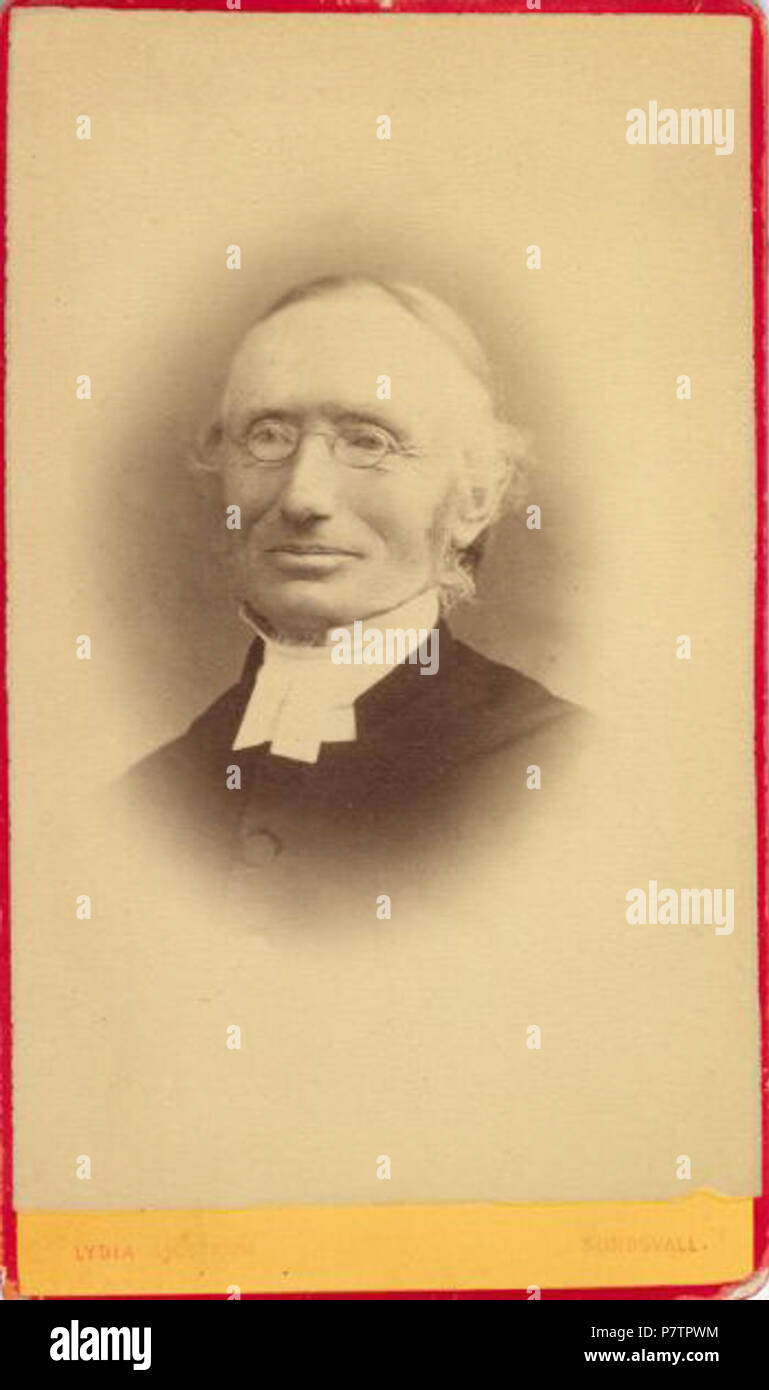 60 Carl Gustaf Näslund (1825-1899) from a photograph in the collection of Betty Nilsson of Örnsköldsvik, Västernorrland, Sweden - Stock Image