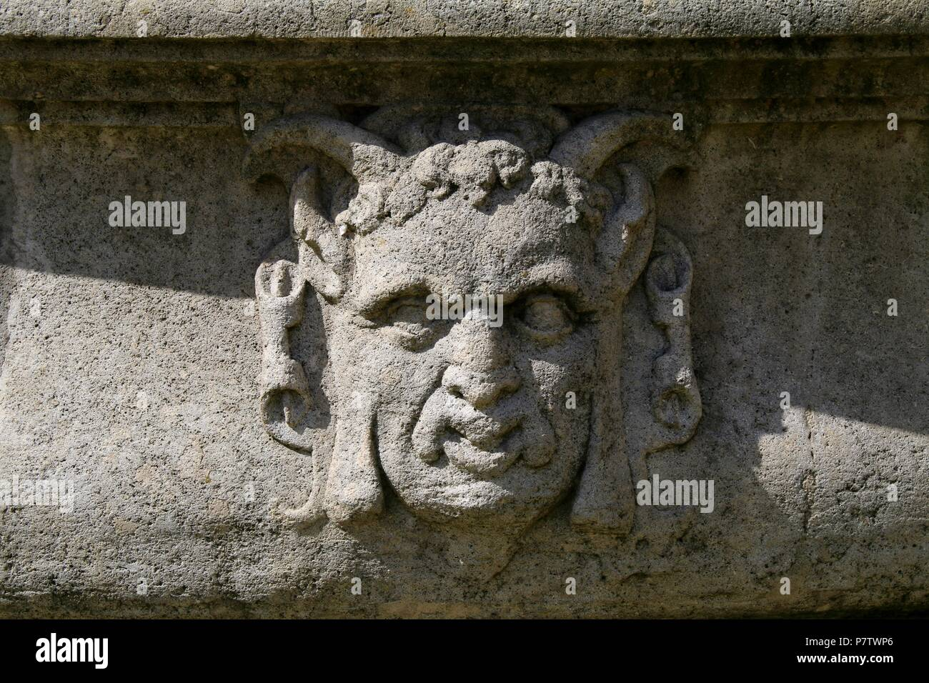 Medieval face to ward off evil in Europe - Stock Image