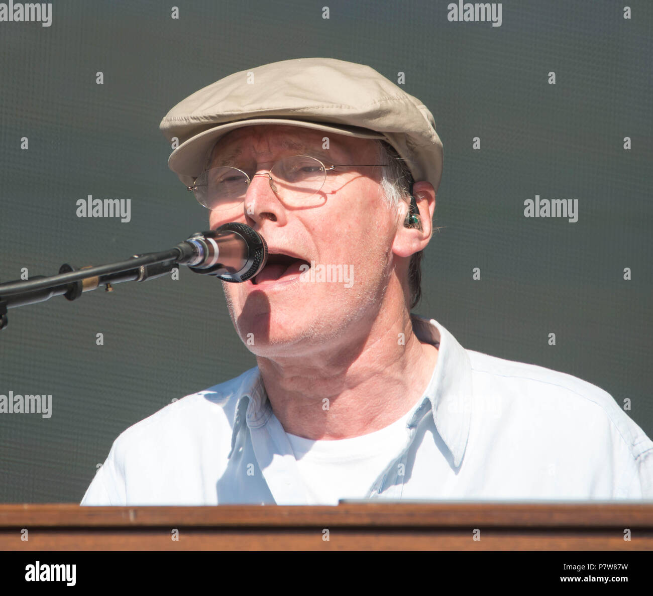 Hyde Park, London, United Kingdom. 8th July 2018. Steve Winwood performs on Day 3 of Barclaycard presents British Summer Time in Hyde Park. Michael Tubi/Alamy Live News - Stock Image