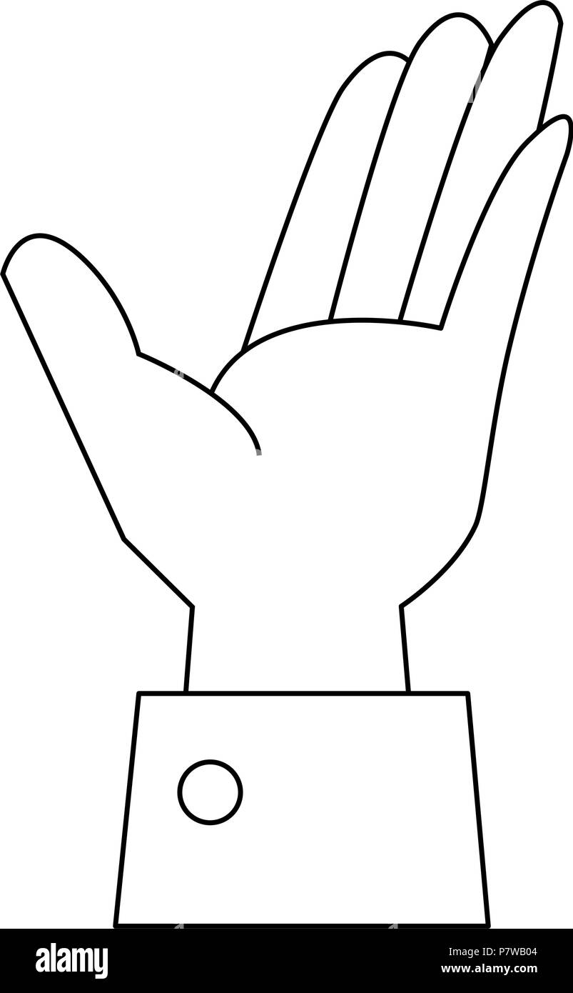 hand human receiving icon - Stock Image
