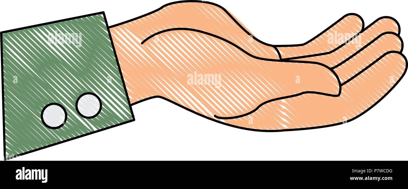 hand human receiving icon - Stock Vector