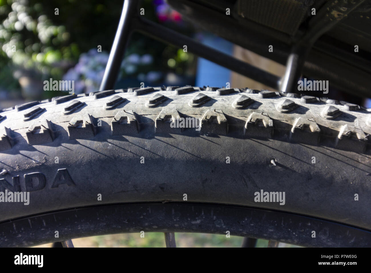 Bobbly tyre - Stock Image