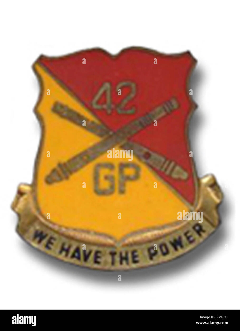 42nd FA Group crest. - Stock Image