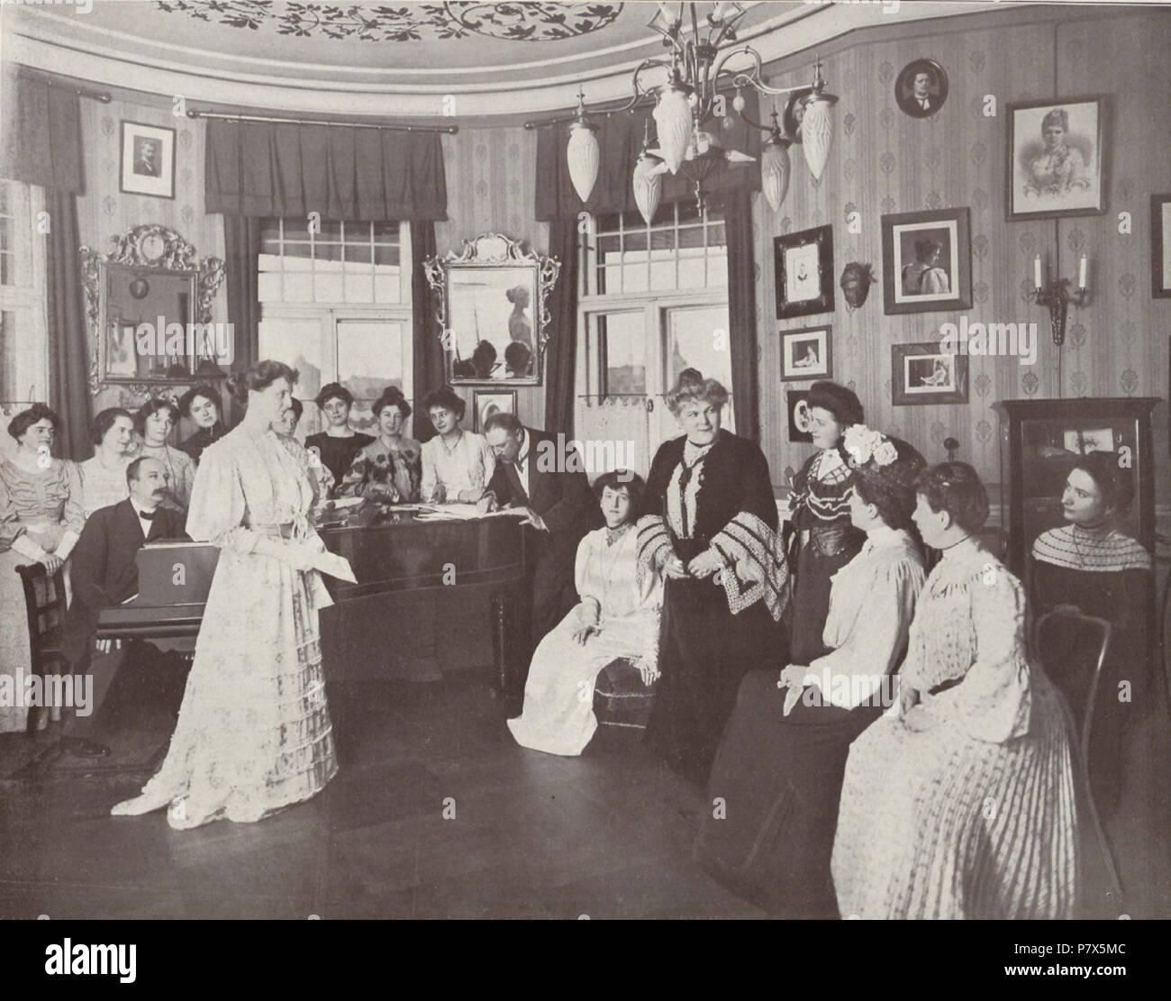Deutsch: Elka Gerster, auch: Etelka Gerster-Gardini, 1855-1920, ungarische Sopranistin. 1905 148 Etelka Gerster-Gardini (BerlLeben 1905-06 AZander&SLabisch) - Stock Image