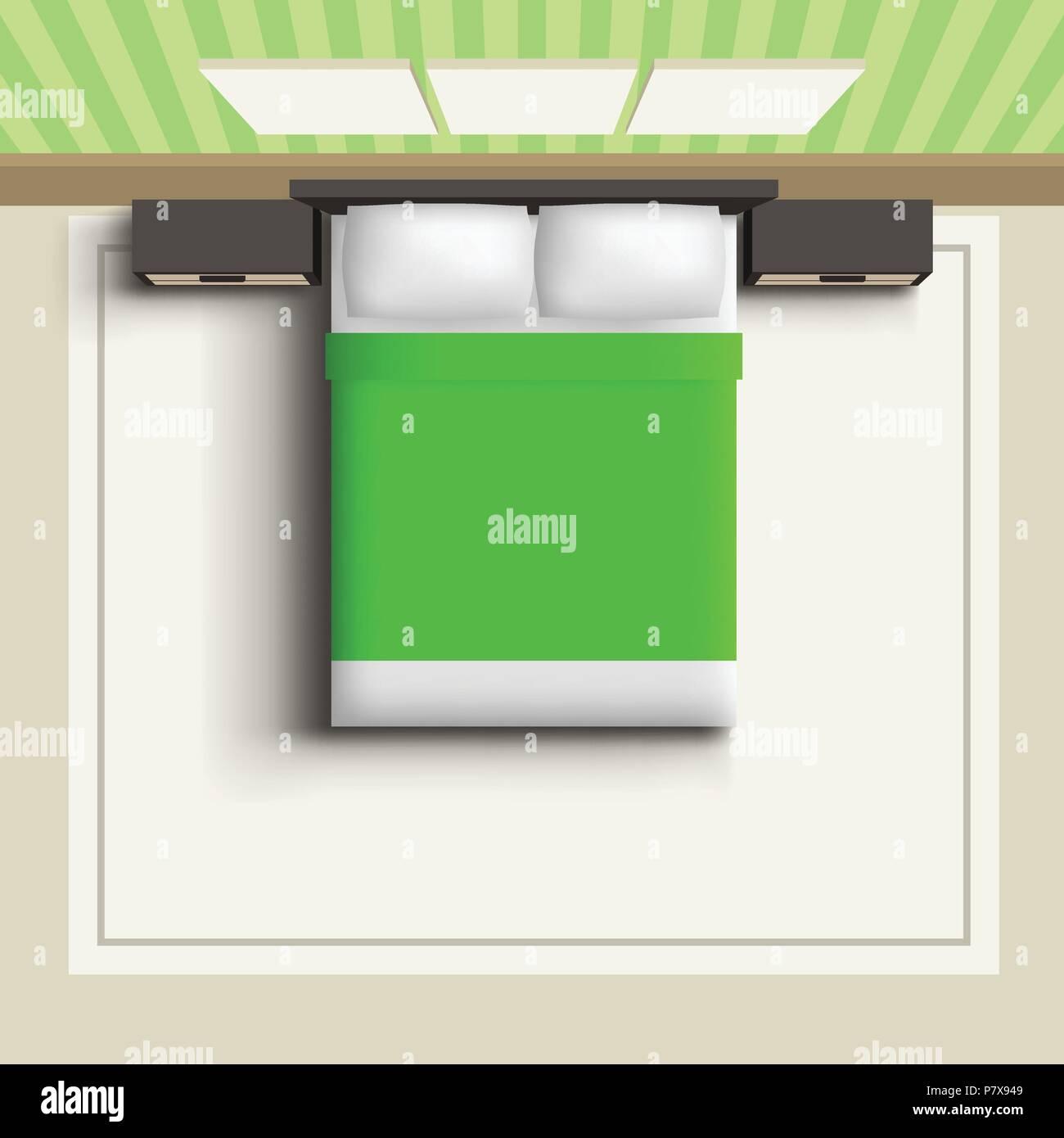 Top View Bedroom Stock Vector Art Illustration Vector Image