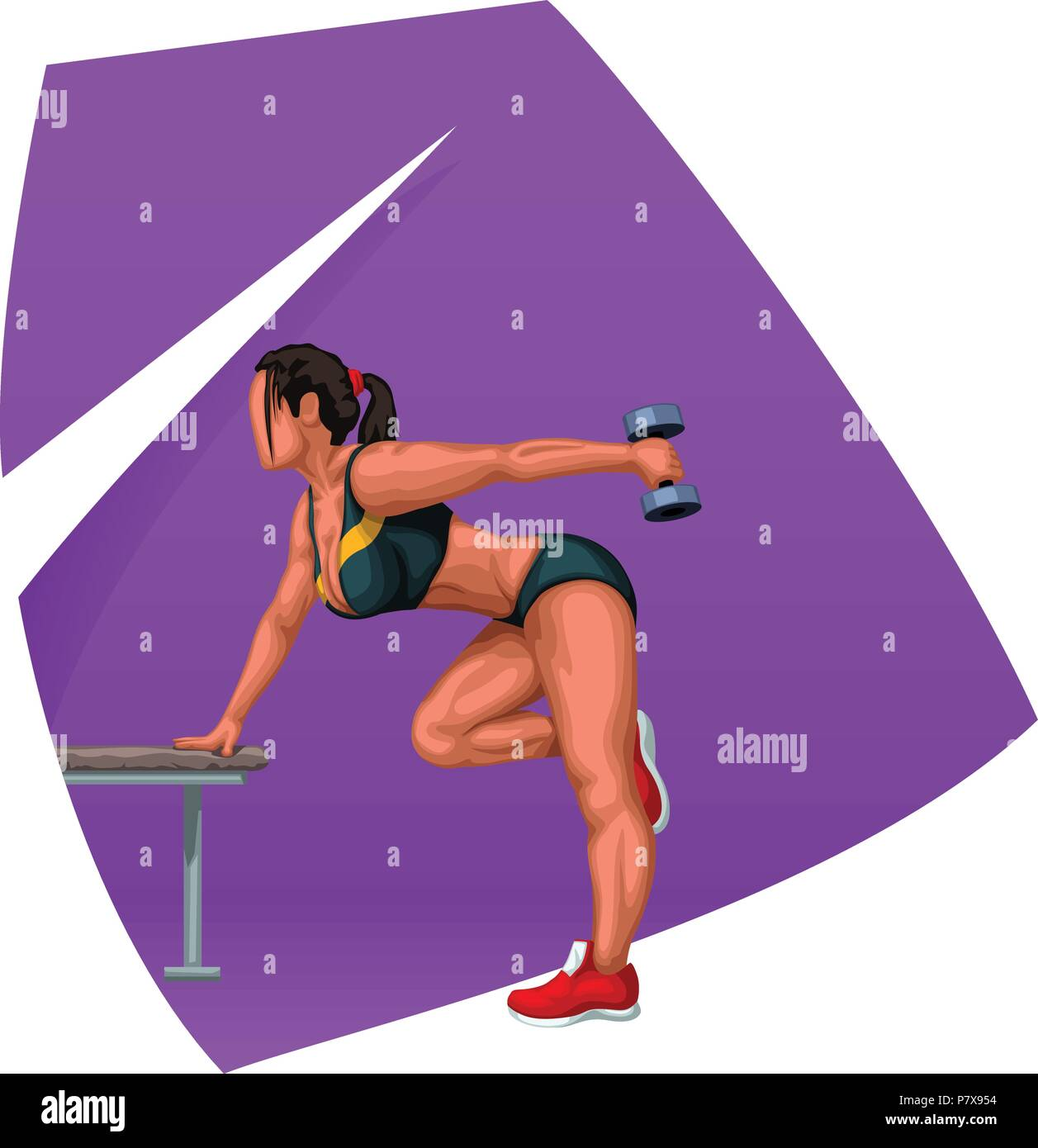 fitness woman working out - Stock Vector