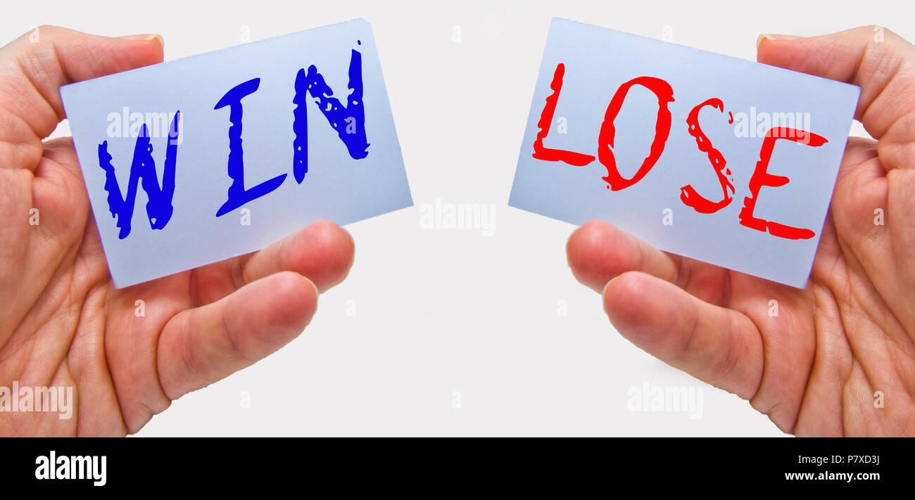 win - lose concept for business and marketing negotiation - Stock Image