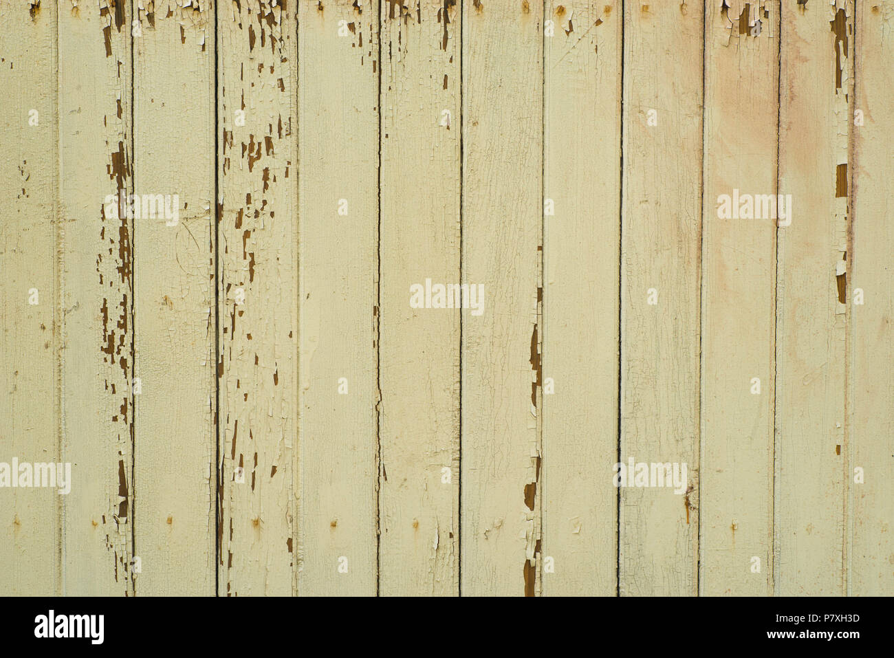 old obsolete yellow color painted planks wall background texture ...
