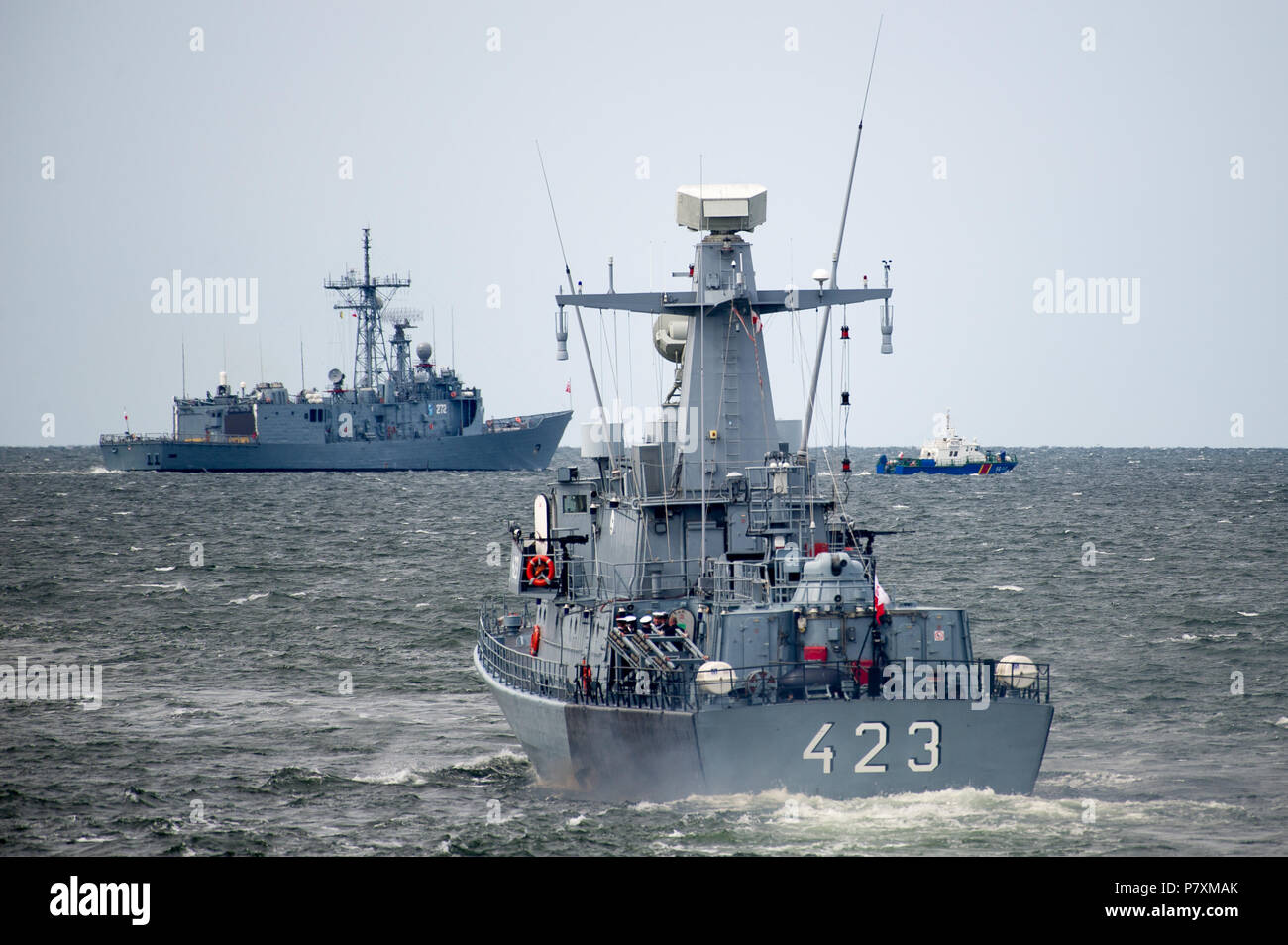 polish orkan class fast attack craft orp grom 423 and oliver
