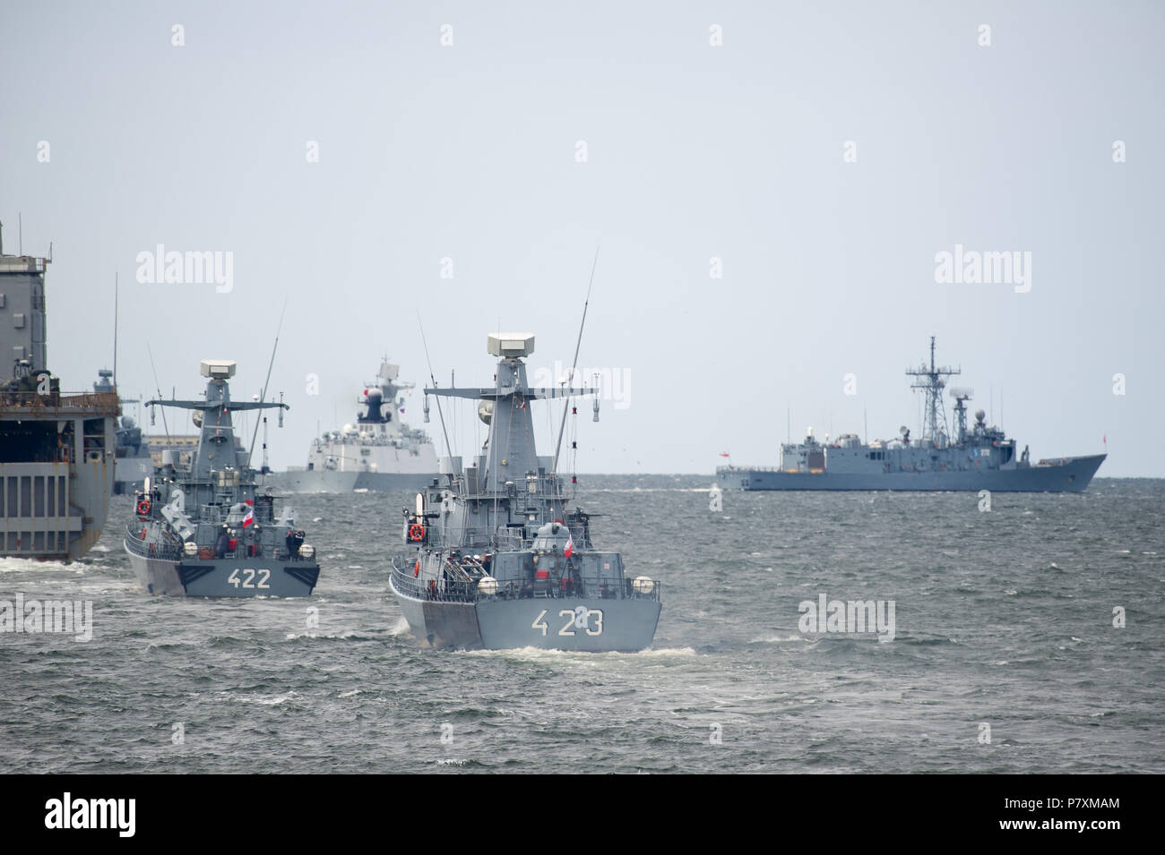 polish orkan class fast attack craft orp grom 423 and orp piorun