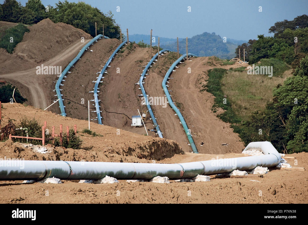 Laying a Pipeline - Stock Image