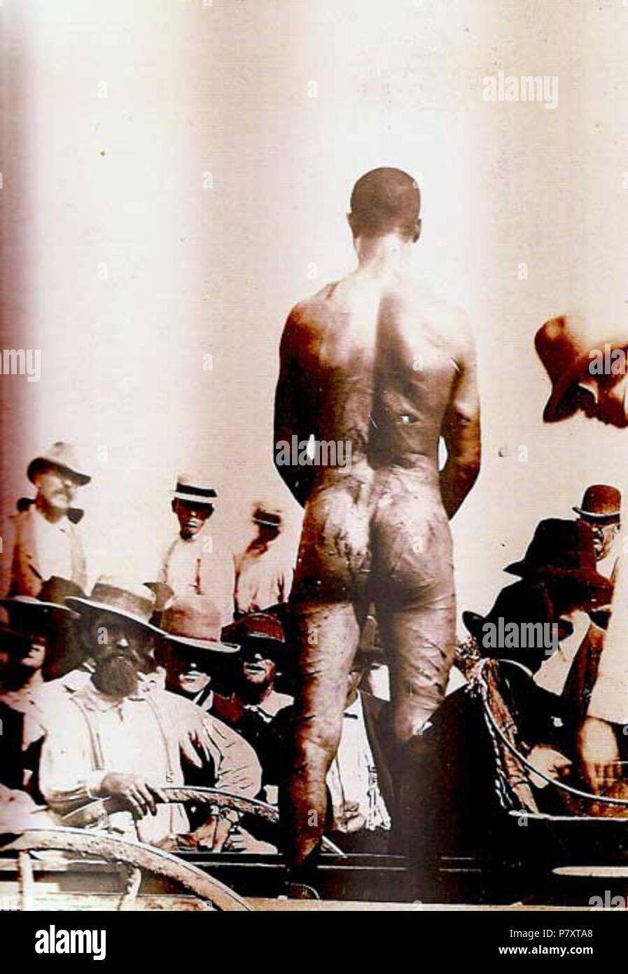 English: Image of the lynching of Frank Embree, Fayette, Missouri 1899 Deutsch: Bild des Lynchmordes an Frank Embree, Fayette, Missouri 1899 . 22 July 1899 162 Frank Embree 2 - Stock Image