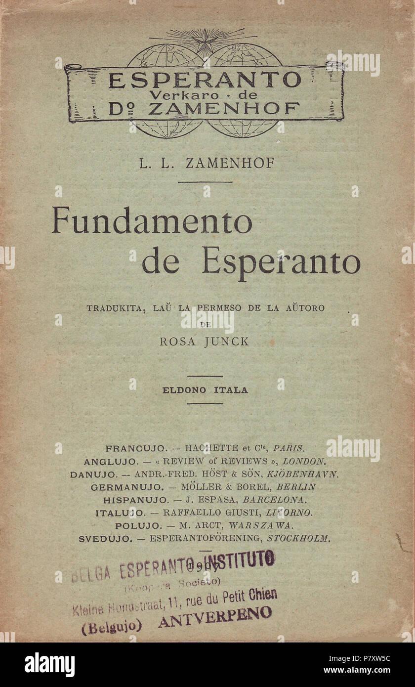 Esperanto: 1907 Fundamento de Esperanto Eldono Itala