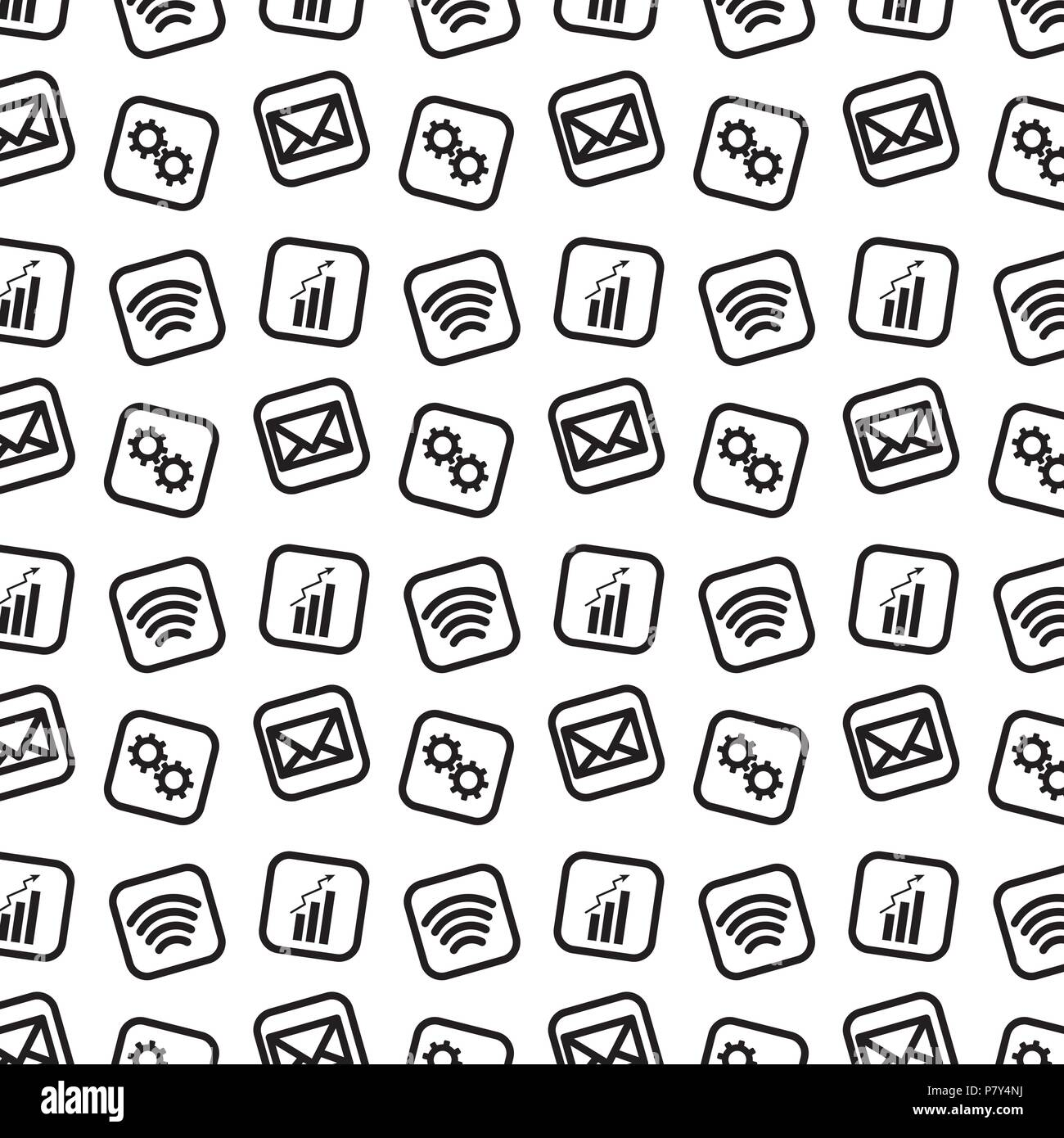 Line Social Digital Apps Icons Background