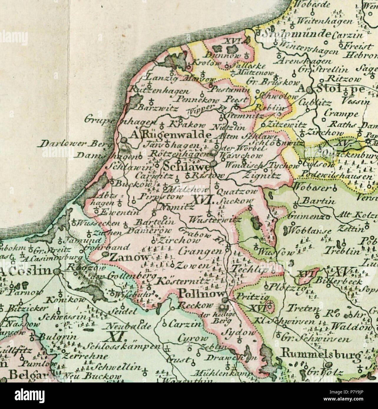 Landkarte Deutsch.Deutsch Ausschnitt Aus Landkarte Des Herzogtums Vor Und