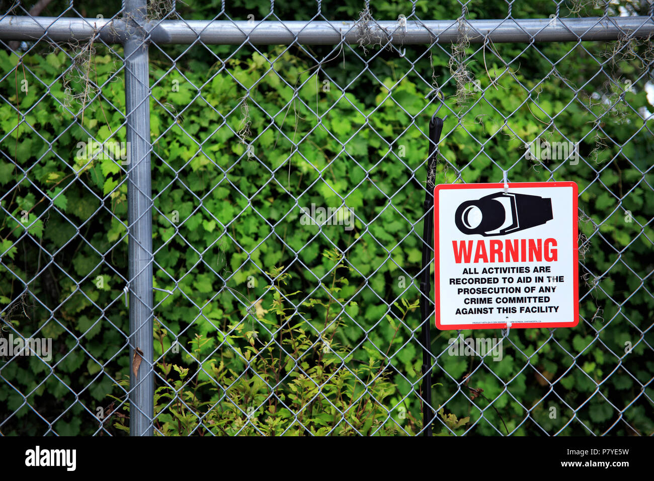 an image of security system sign - Stock Image