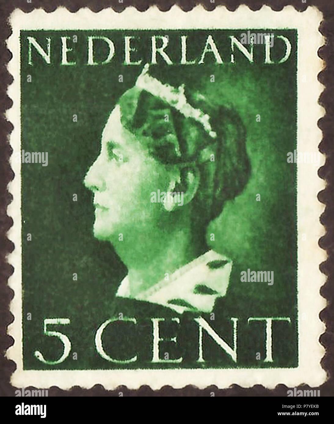 Stamp Of The Netherlands 1940 Definitive Issue Wilhelmina