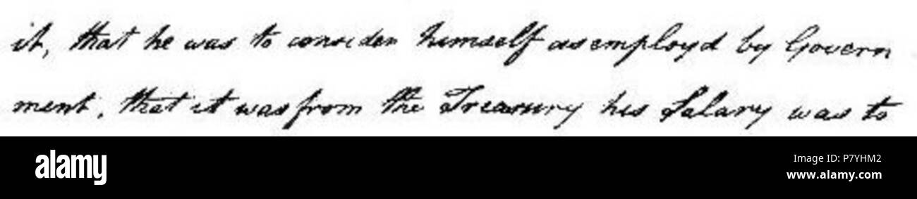 This is an excerpt of a letter displayed on page 79 in The Life of Matthew Flinders by Ernest Scott. The image has been rotated 90° anti-clockwise from the original. 12 March 2010, 17:33 (UTC). Printed in 1914 edition. 299 Page 79 letter (The Life of Matthew Flinders) - Stock Image