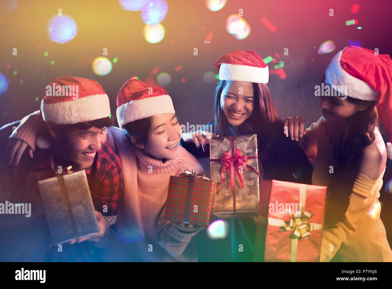 christmas and new year party celebration by asian teen holiday and happiness concept relax theme