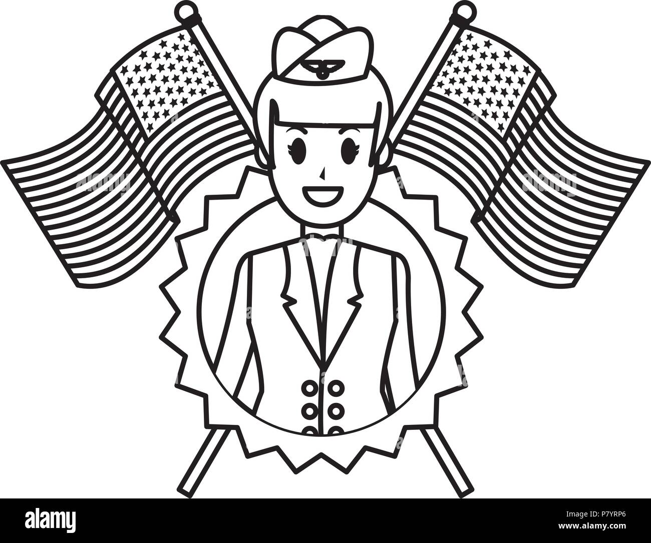 all national flags black and white stock photos images alamy Old French Flag in 1600s line stewardess with usa flags and nation emblem stock image