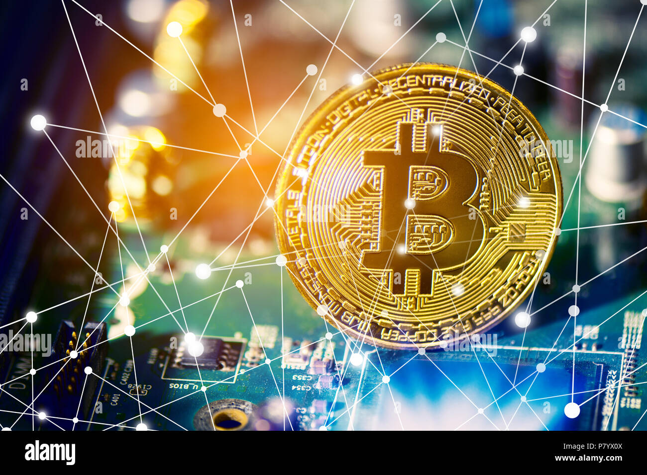 Vector Abstract Computer Circuit Board Technology Element With Animation V6 By Motionworks Videohive Bitcoin On Electronic Cryptography And Money Concept Currency Trading Gold Mining Theme