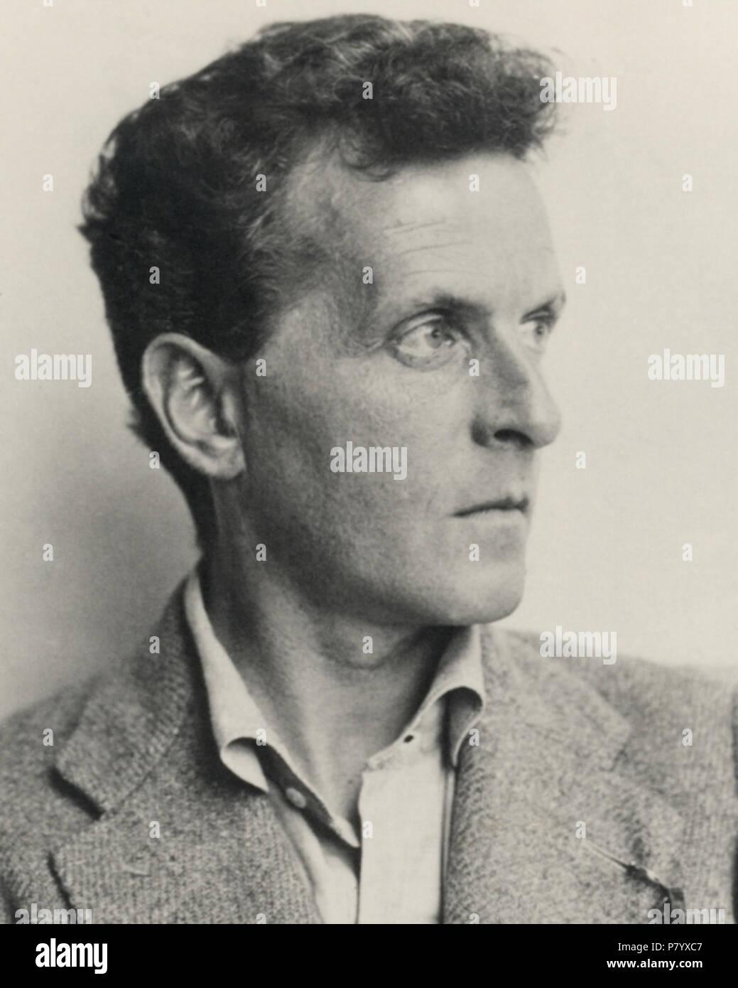 Deutsch: Ludwig Wittgenstein (1899–1951). Österreichische Nationalbibliothek, Inventarnummer Pf 42.805: C (1) English: Ludwig Wittgenstein (1899–1951). Austrian National Library, Accession number Pf 42.805: C (1) . 1930 252 Ludwig Wittgenstein 4-5(cropped) - Stock Image