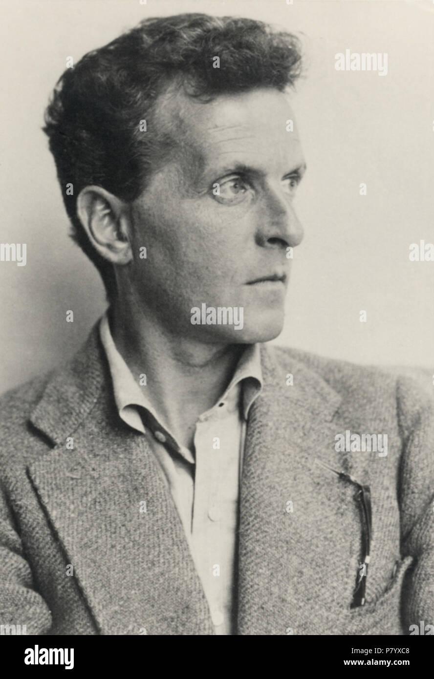 Deutsch: Ludwig Wittgenstein (1899–1951). Österreichische Nationalbibliothek, Inventarnummer Pf 42.805: C (1) English: Ludwig Wittgenstein (1899–1951) . 1930 252 Ludwig Wittgenstein - Stock Image