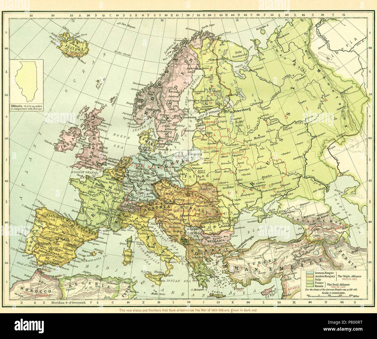 English: Map of Europe immediately after WWI. Pre-WWI ...