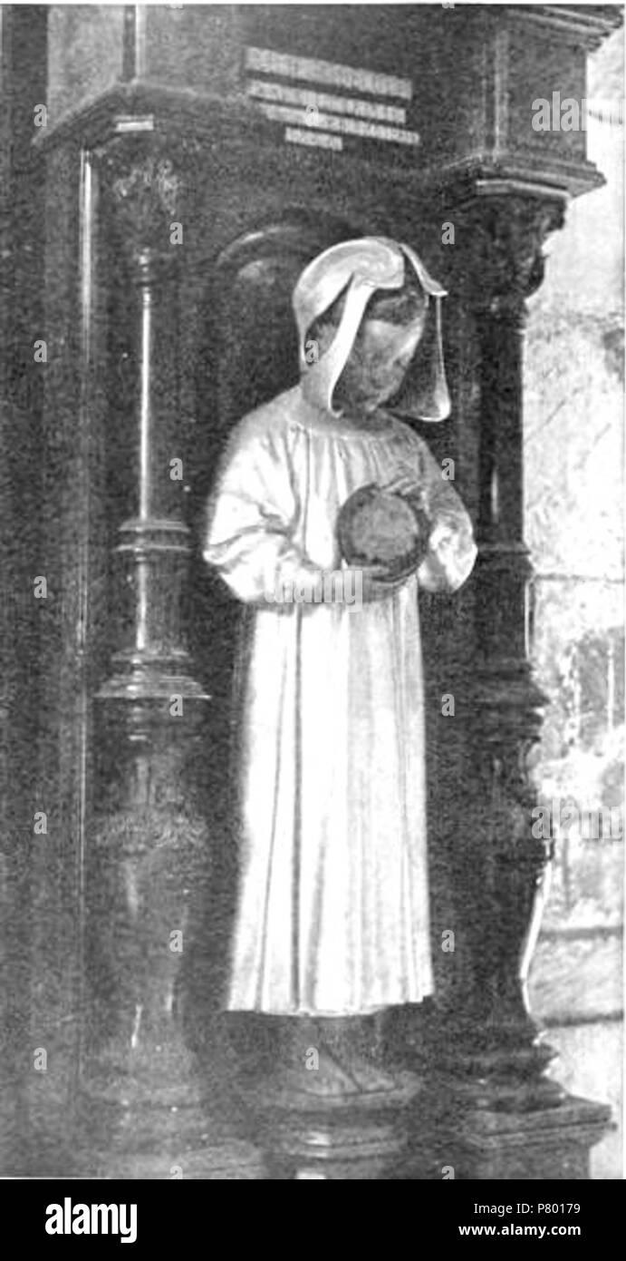 Deutsch: Memorial für Randolph Caldecott in der Krypta der St. Paul's Cathedral. Geschaffen von dem Bildhauer Sir Alfred Gilbert, R. A. (1854-1934) . 1896 265 Memorial for Randolph Caldecott - Stock Image