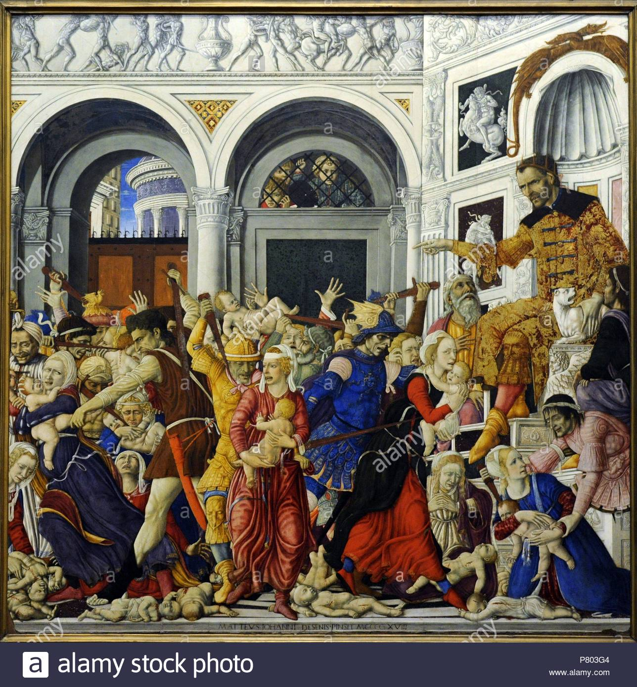 Matteo di Giovanni (1430-1495). Italian painter. Massacre of the Innocents,  1481-1488. Bourbon Collection. National Museum of Capodimonte. Naples.  Italy.