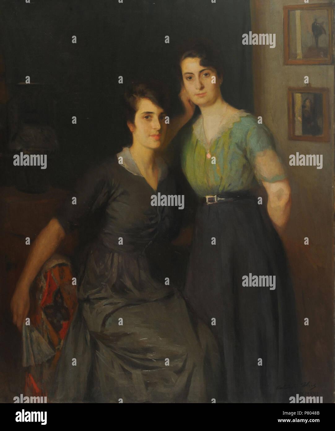 Español: Antonio Alice, Mis hermanas. Siglo XIX. 145,5 x 121 cm, con ...