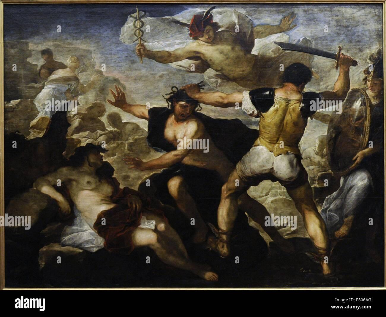 Luca Giordano 1634 1705 Italian Painter Perseus Cutting