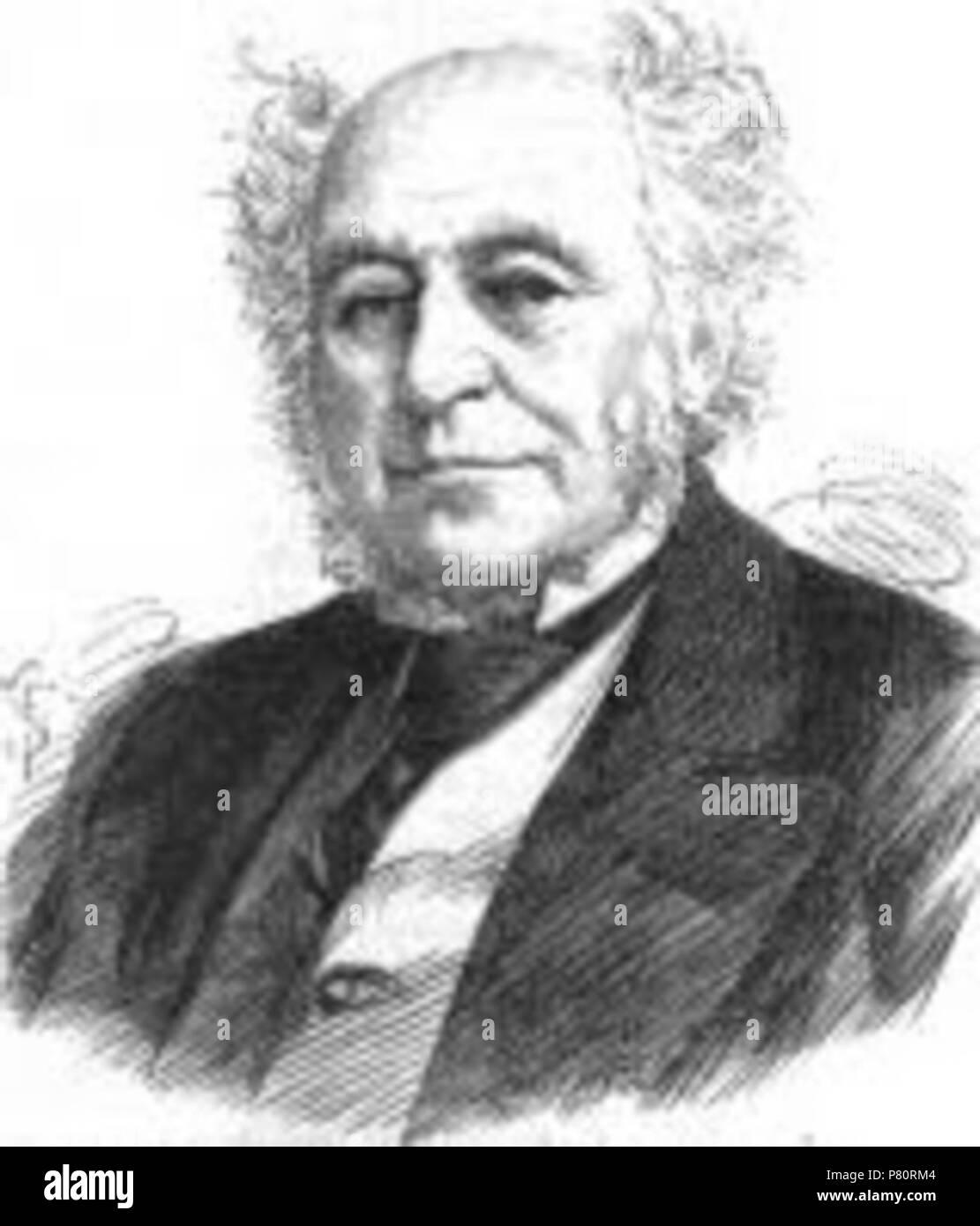 English: Portrait from the Illustrated London News of Sir Hardman Earle, 1st Baronet (1792–1877), Mayor of Liverpool. 1877 347 Sir Hardman Earle 1877 - Stock Image