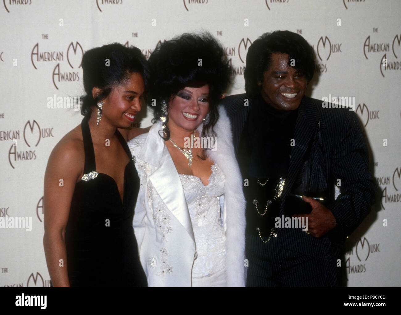 los angeles ca january 27 singer james brown r and