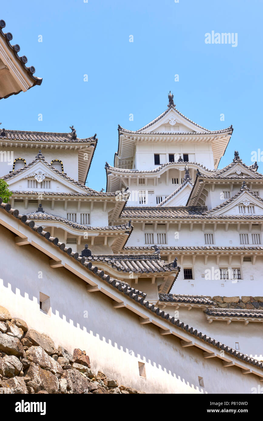 Low angle shot of himeji castle exterior in hyogo prefecture japan low angle shot of himeji castle exterior in hyogo prefecture japan publicscrutiny Choice Image