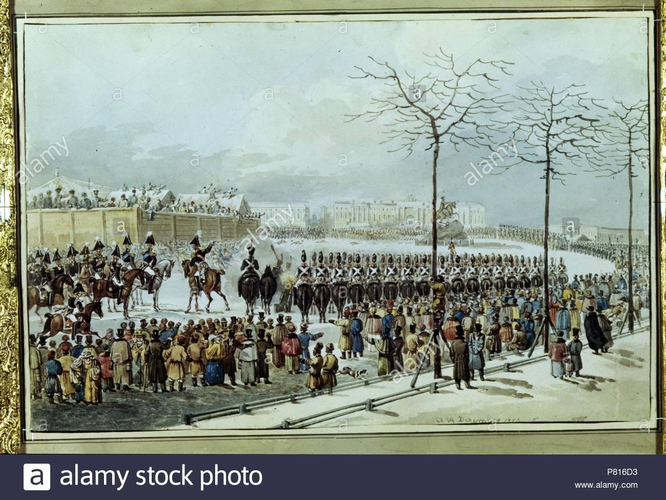 Decembrist uprising on Senate Square in 1825 31