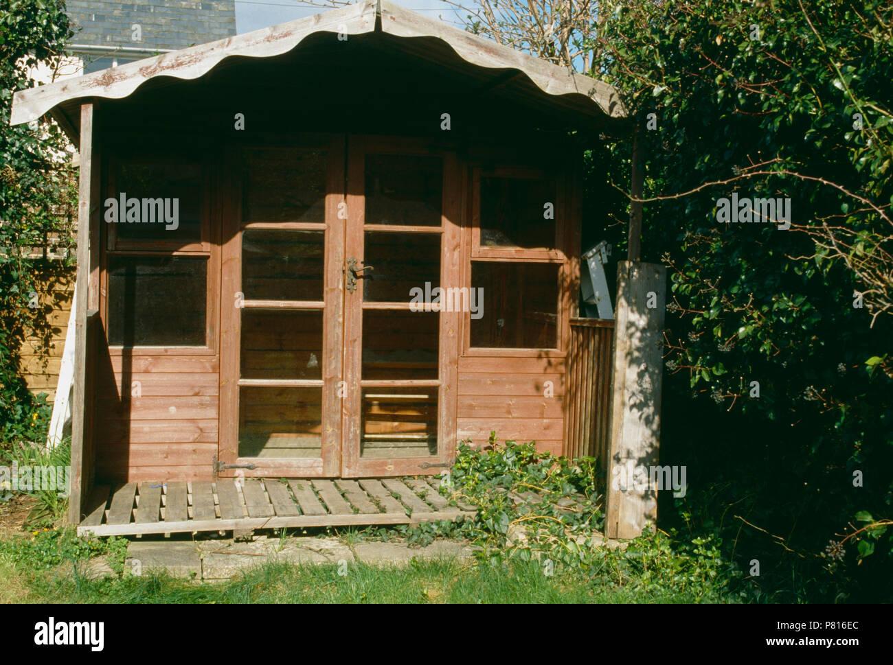 Traditional Wooden Garden Summerhouse Stock Photo 211468724 Alamy