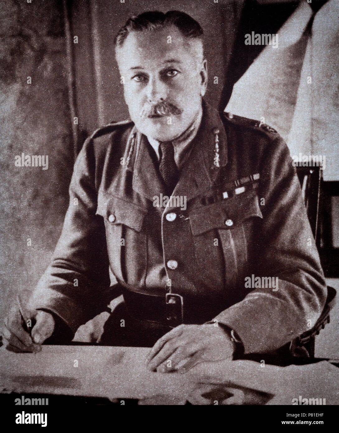 1918 portrait of Sir Douglas Haig, Commander the British Expeditionary Force (BEF) on the Western Front from late 1915 until the end of the war. He was commander during the Battle of the Somme, the Third Battle of Ypres, the German Spring Offensive, and the Hundred Days Offensive. - Stock Image