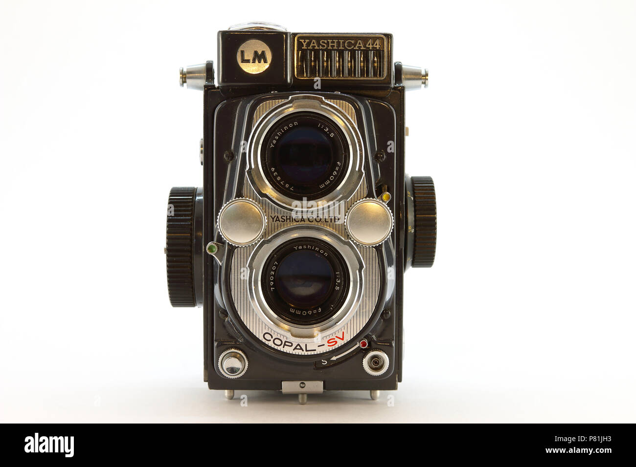 Yashica-44LM from the 1950's close up - Stock Image